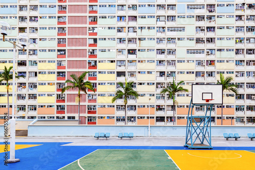 Old Public Residential Estate in Hong Kong