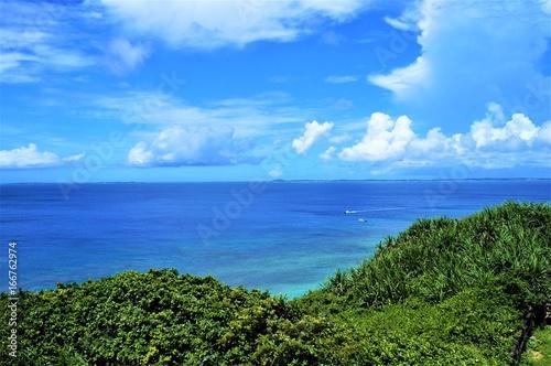 Fototapety, obrazy: 伊良部島・フナウサギバナタ展望台からの眺望