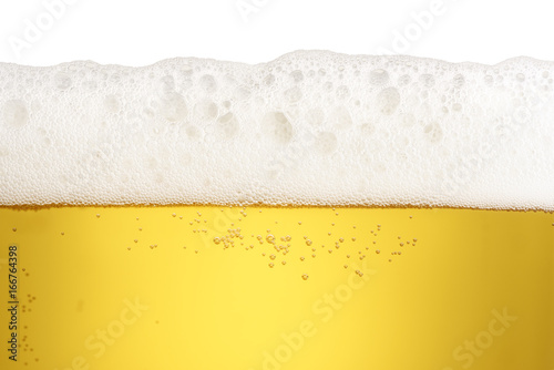 Fotografie, Obraz  close up beer with foam and bubbles