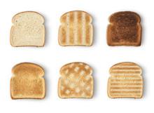 Set Of Six Slices Toast Bread ...