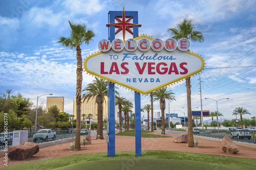 Spoed Foto op Canvas Las Vegas The fabulous Welcome Las Vegas sign