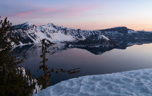 Winter Lanscape Crater Lake Wi...
