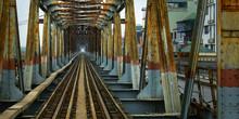 Iron Bridge In Hanoi-Vietnam