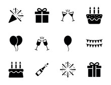Birthday Party Icon Set - New ...