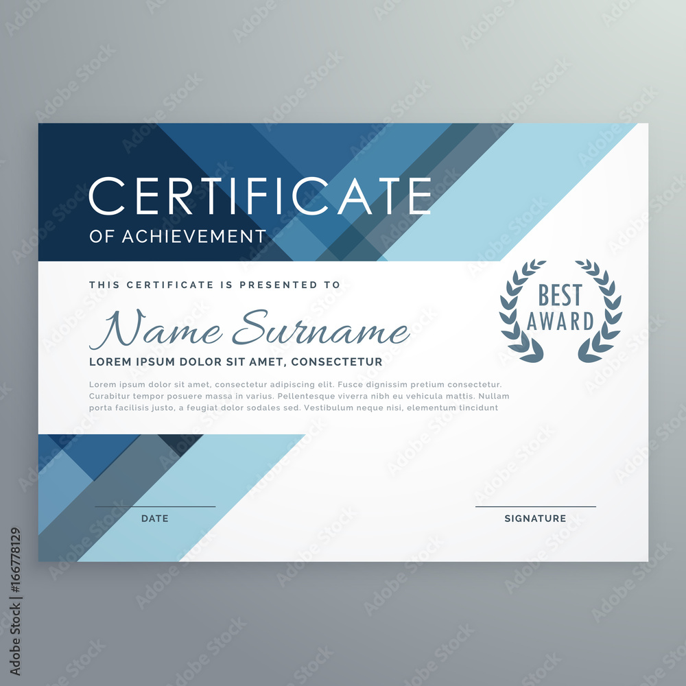 Fototapety, obrazy: blue certificate design in professional style