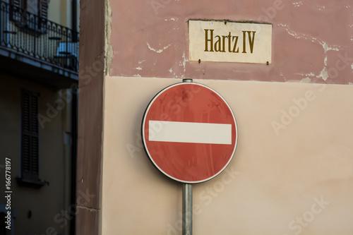 Photo Schild 246 - Hartz IV