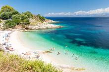 Amazing Beach On Corfu Island,...