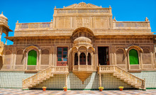 The Beautiful Exterior And Interior Of Mandir Palace In Jaisalmer, Rajasthan, India. Jaisalmer Is A Very Popular Tourist Destination In Rajasthan.