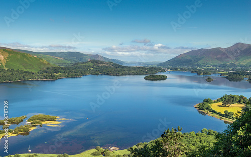 Derwentwater from Surprise View a popular tourist viewpoint in the Lake District National Park, Cumbria Fotobehang