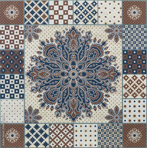 stary-geometryczny-abstrakcyjny-wzor-z-ornamentem