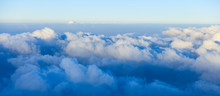 Blue Sky And Clouds From Plane Window