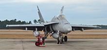 A U.S. Navy F/A-18 Hornet Figh...