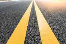 New Asphalt Road Texture Background Closeup
