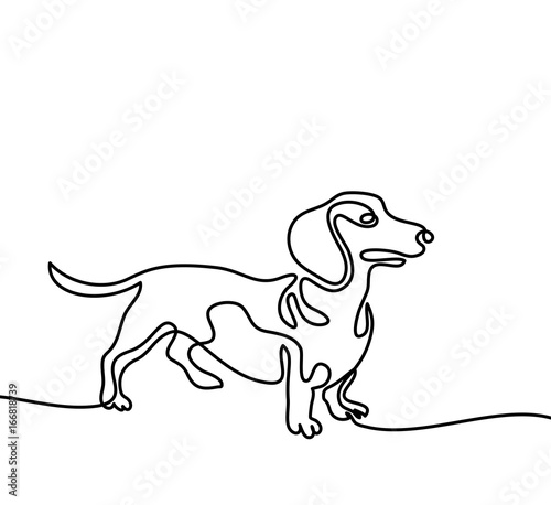 Dachshund Outline Template