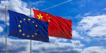 China And EU Waving Flags On B...