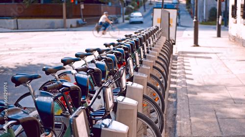 Obraz na płótnie Rowery na ulicach Montrealu, Kanada