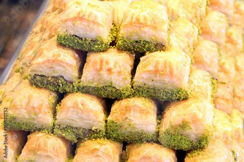 Photo Turkish baklava sweet