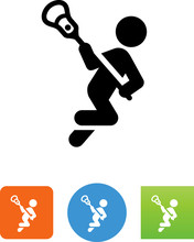 Lacrosse Player Icon - Illustration