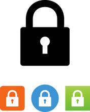 Lock With Keyhole Icon - Illus...