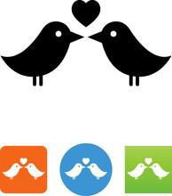 Lovebirds Icon - Illustration