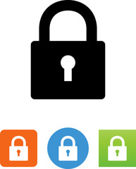Lock With Keyhole Icon - Illustration