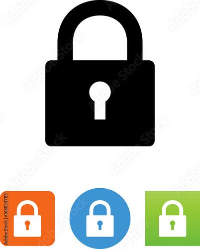 Fototapeta Lock With Keyhole Icon - Illustration obraz