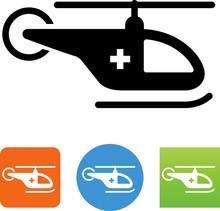 Medical Helicopter Icon - Illu...
