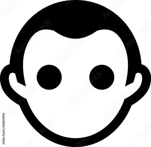 Vászonkép Middle Aged Man Icon