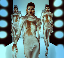 Catwalk And Runway Scene With Beautiful Female 3d Models, No Releases Needed!  Perfect For Your Work With Fashion, Beauty, Shopping And More.