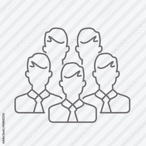 Fotografía  Vector flat line businessmen icon