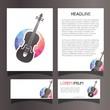 Violin Company Corporate Identity Set Collection