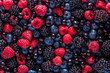 canvas print picture - assorted fresh berries
