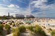 canvas print picture - Strandkörbe am Strand von Insel Borkum.