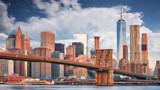 Fototapeta Nowy York - Brooklyn bridge and Manhattan, NYC