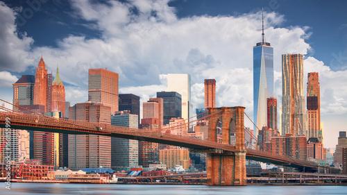 Montage in der Fensternische Brooklyn Bridge Brooklyn bridge and Manhattan, NYC
