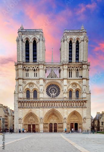 Stampa su Tela Notre Dame - Paris at sunrise