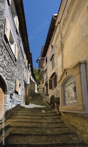 Photo  A street in the old town of Maccagno on Lake Maggiore -  Maccagno, Lake Maggiore