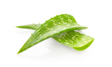 Aloe Vera Leaves With Drops Of...