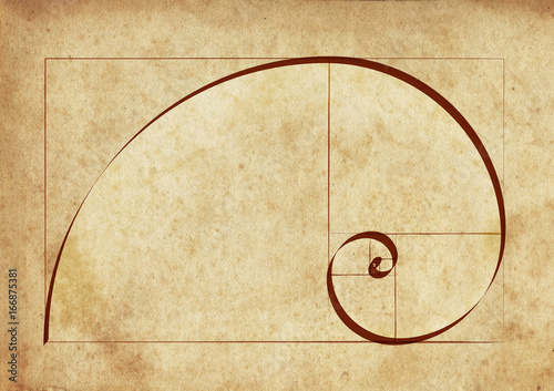 Fotografía The Golden Spiral / Sacred Geometry on Ancient Script