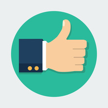 Thumb Up Vector Icon. Isolated...