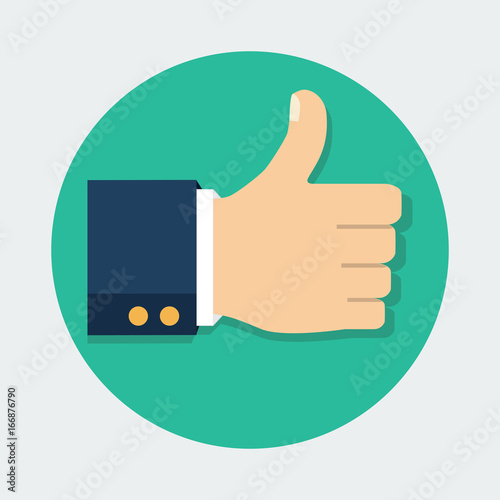 Fotografie, Obraz  Thumb Up vector icon