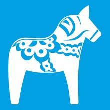 Toy Horse Icon White