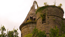 Turret And Tower Of Castle Ruin.