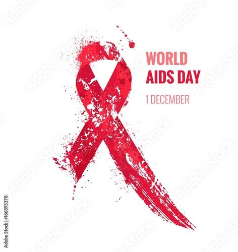 Aids Awareness Ribbon Canvas Print