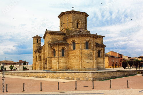 Poster Monument Romanesque church. Fromista, Palencia. Spain