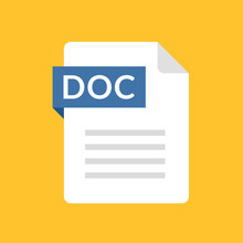 DOC File Icon. Text Document T...