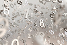 Abstract Metallic Number Background