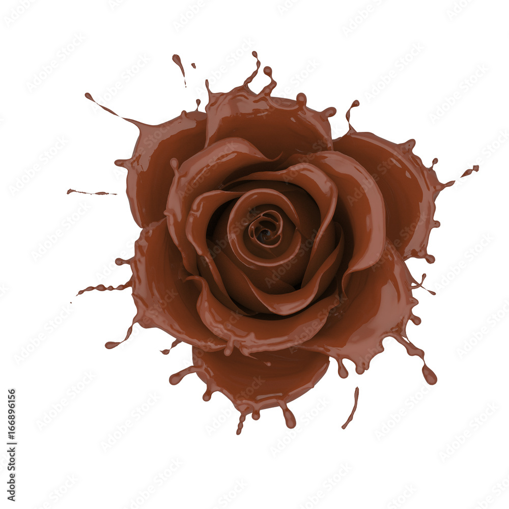splash of chocolate flower rose