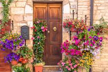 Door Surronded By Flowers