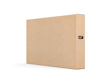 Large Brown Cardboard Textured Box Packaging Mockup For Smart Tv Set, 3d Rendering